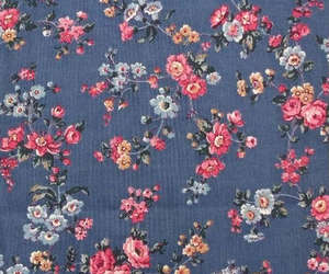 blue flowers, floral pattern, and flowers image