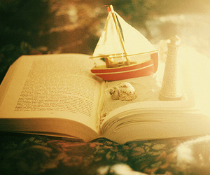 book, boat, and photography image