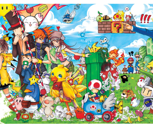 game, mario, and pikachu image