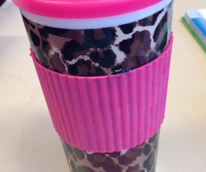 cup, leopard, and pink image