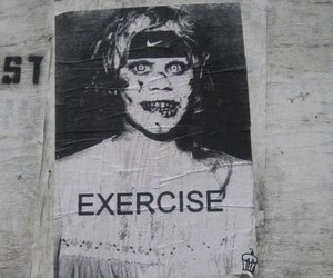 exercise, funny, and exorcist image