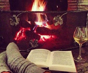 fire and book image