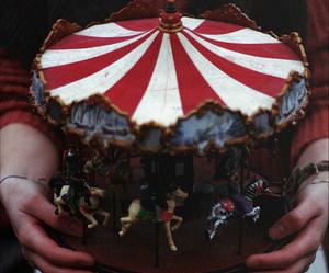 vintage, carousel, and grunge image