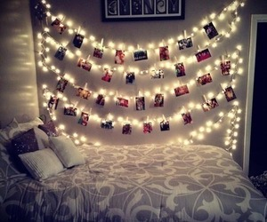 amazing, lights, and bedroom image