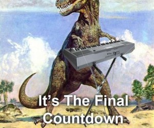dinosaur, funny, and countdown image