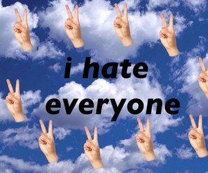 hate, peace, and grunge image