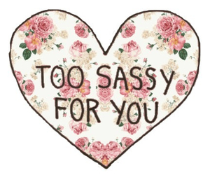 sassy, heart, and flowers image