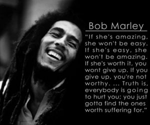 bob marley, quote, and love image