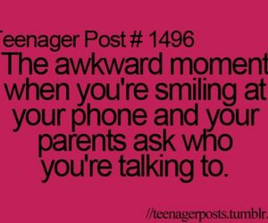 teenager post, phone, and parents image