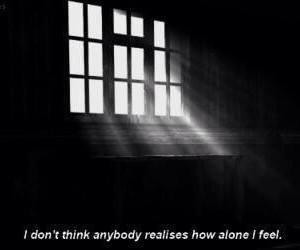 alone, sad, and quote image