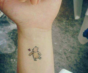 tattoo, winnie the pooh, and bear image