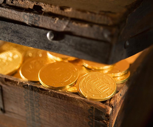 coins, gold, and i want it! image