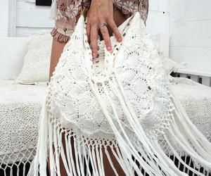 bag, boho, and crochet image
