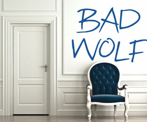 doctor who, bad wolf, and handmade image