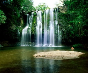 waterfall, costa rica, and nature image