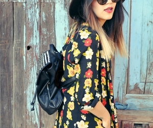 girl, hipster, and dress image