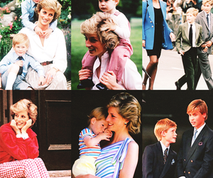 family, lady diana, and prince harry image