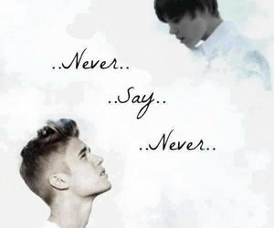justin, never say never, and kidrauhl image