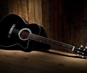 acoustic, acoustic guitar, and like image