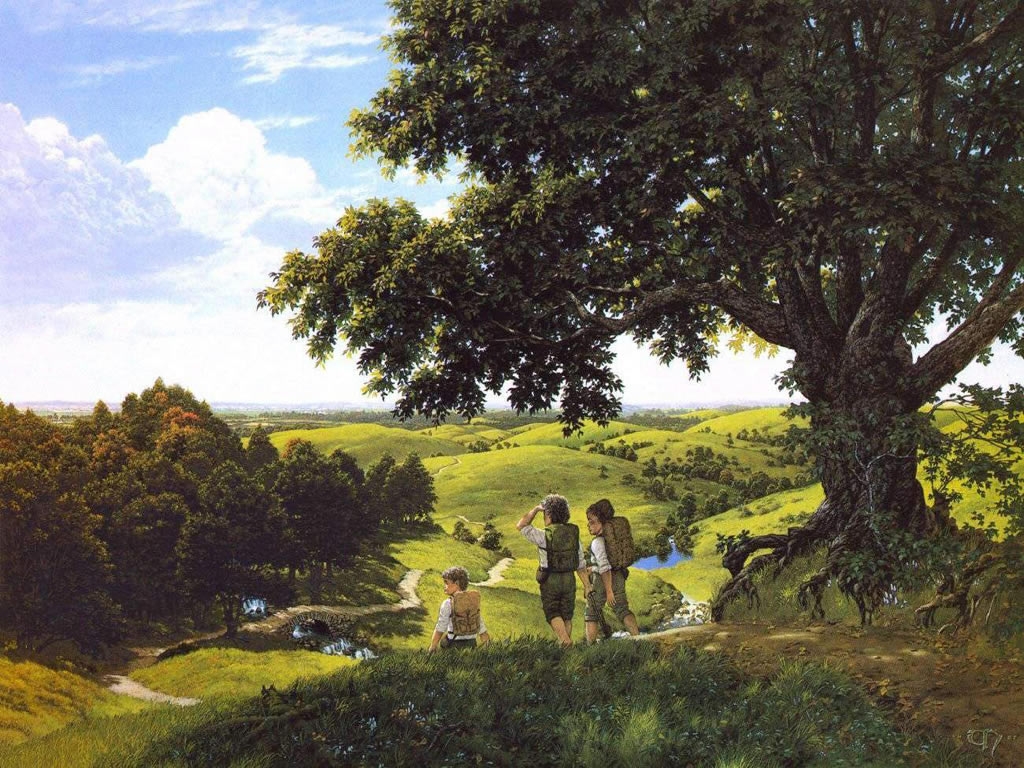 The Lord Of The Rings Ted Nasmith Samwise Gamgee Frodo Baggins The