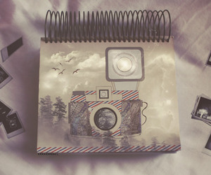 camera, notebook, and photography image