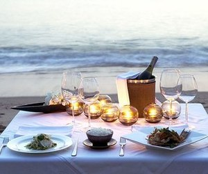 romantic, food, and dinner image