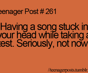 teenager post, funny, and song image