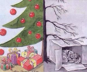christmas, tree, and poor image