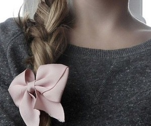 hair, girl, and bow image
