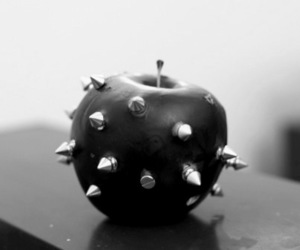 apple, black, and spikes image