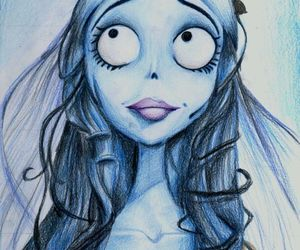 drawing, corpse bride, and tim burton image