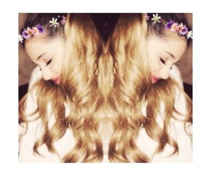 ariana grande, flowers, and hair image
