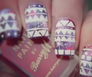 nails, galaxy, and purple image