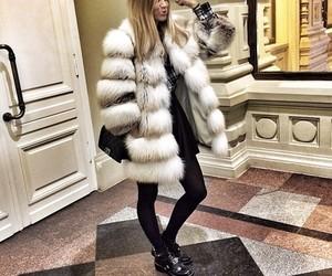 girl, fashion, and fur image