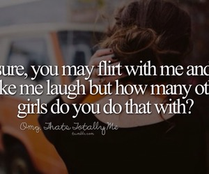 flirt, quote, and girl image
