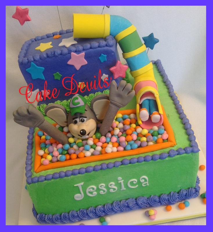Chuck E Cheese Ball Pit Birthday Cake from wwwCakeDevilscom