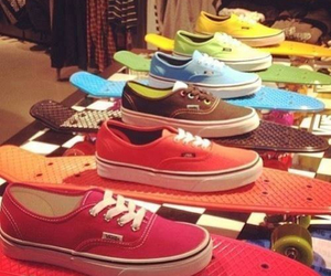 vans, skate, and colorful image