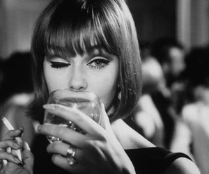 vintage, cigarette, and drink image