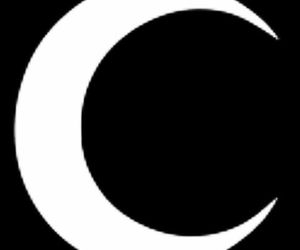 black, crescent moon, and hipster image