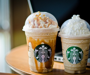 cream, frappuccino, and sweet image