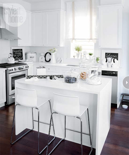 kitchen, white, and clean decor image