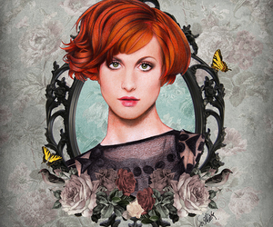 paramore, hayley williams, and drawing image