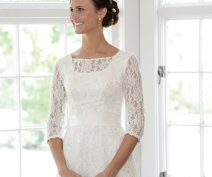 lace modest wedding dres and christian wedding dress image