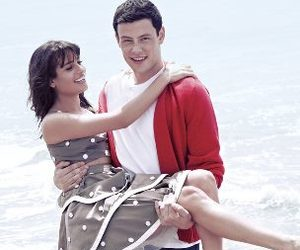 lea michele, cory monteith, and lea and cory image