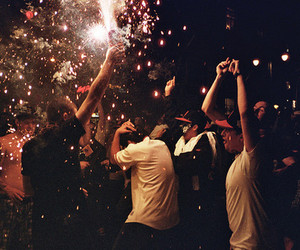 party, boy, and fireworks image