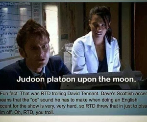 david tennant, doctor who, and troll image