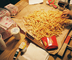 food, fries, and McDonalds image