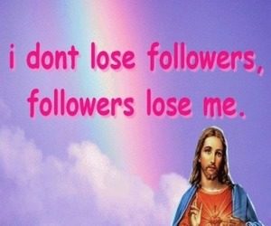 jesus, followers, and funny image