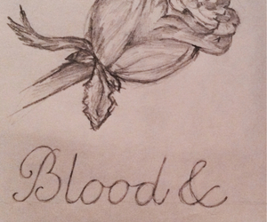blood, cry, and drawing image