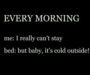 bed, morning, and cold image